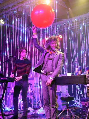 Steven Drozd and Wayne Coyne of The Flaming Lips performs during the 2014 Bonnaroo Lineup Announcement Megathon at House of Vans on Feb. 7, 2014, in New York City.
