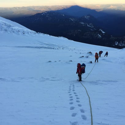 The Corvallis Mountain Rescue Team on Mount Jefferson