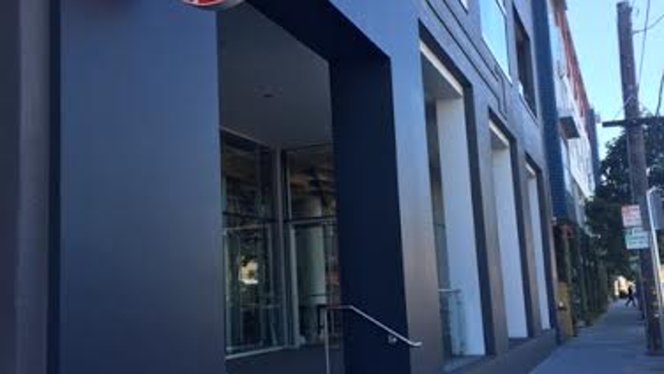 Outside the Pinterest headquarters in San Francisco,