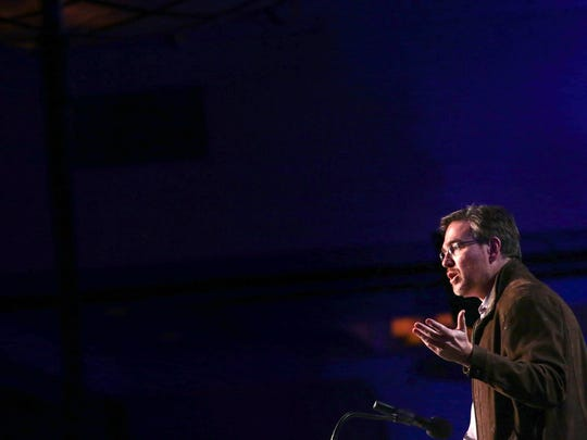 Bret Stephens speaks at the Rancho Mirage Writers Festival Saturday night, January 28, 2017 at the Omni Rancho Las Palmas Hotel in Rancho Mirage.