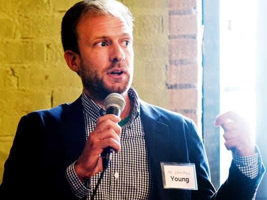 Shreveport Mayoral Candidate John-Paul Young speaks