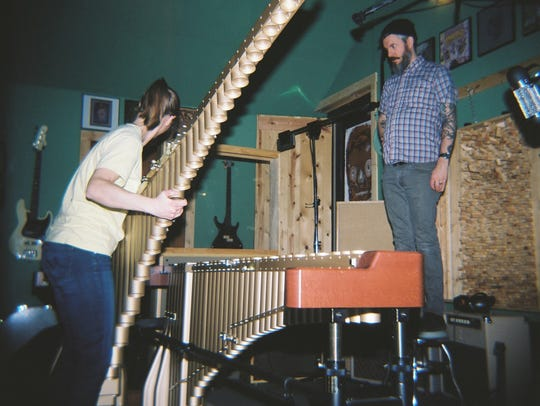 Christine Augspurger and Luke Tweedy recording Dana