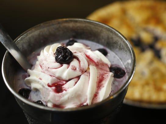 The blueberry pie milkshake at Hamburg Inn No. 2 in