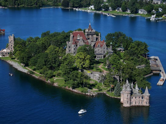 Boldt Castle, located on Heart Island in Alexandria
