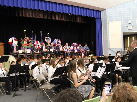 The Hammonton Middle School Band performed several