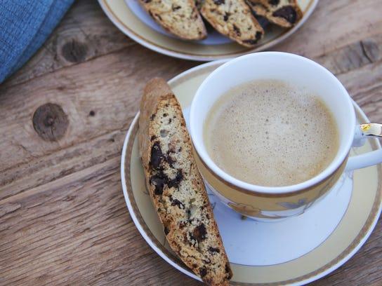 Food Healthy Dark Chocolate Rosemary Biscotti