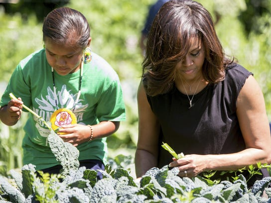 Melania Trump is keeping the vegetable garden created