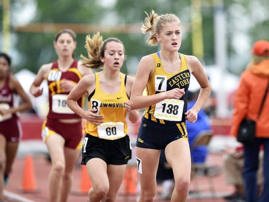 Eastern York's Maddie McLain competes in the Class