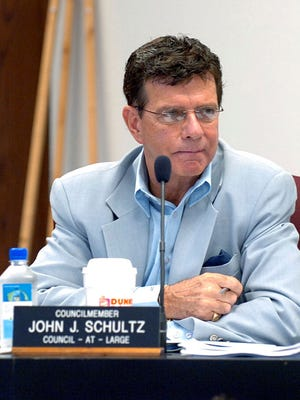 Atlantic City Councilman John Schultz participates in a council meeting in Atlantic City in 2008.