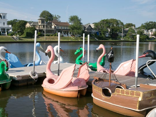 Pedal boats in Asbury Park.