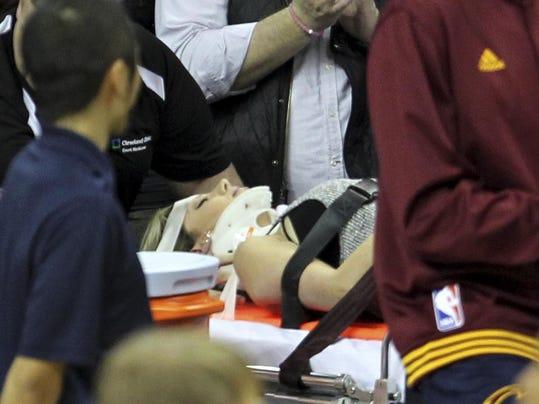 Lebron James-Fan Injured