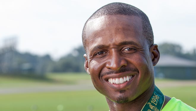 Tim Montgomery, who won two Olympic medals, is trying to restart his life in track as a coach in Gainesville, Fla.