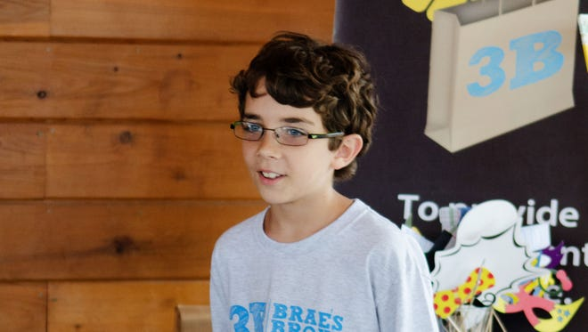 Braeden Mannering's 3B Brae's Brown Bags Foundation project to provide nourishment and hope via brown bags filled with healthy snacks, water and guides to additional services was chosen as the winning entry in the Mazda Driving Force for Good Contest.