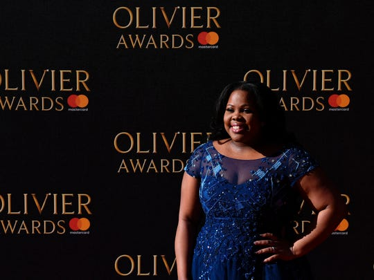 Amber Riley gets to take home an Olivier Award for