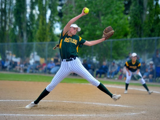 CMR's Tristin Achenbach and the Rustlers won the State