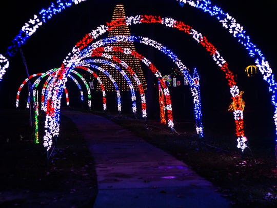 Enchantment in the Park boasts more than 800,000 holiday lights and both a driving path and a walking path.