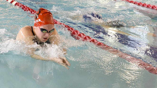 Senior Breanna Ruffolo set the Manitowoc Lincoln school record in the 100-yard breaststroke last season and is looking for another strong campaign.
