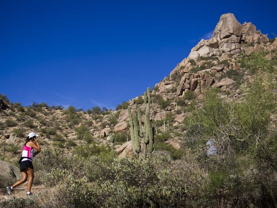 Hikers visit Pinnacle Peak Park and its nearly four-mile