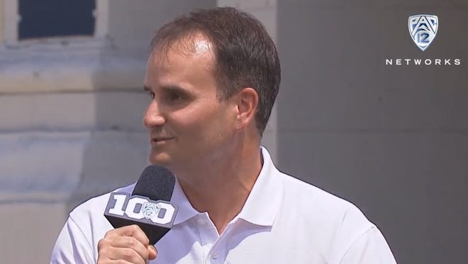 azcentral sports' Doug Haller appearing on Pac-12 Network during Pac-12 Media Days on Friday, July 31, 2015.