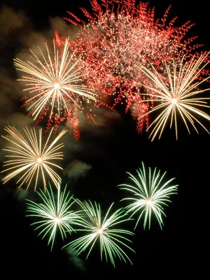 A file photo of the fireworks over Lake Tahoe from Nevada Beach July 4, 2008.