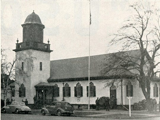 One of Salem's USO buildings. Look familiar? It is now the offices for Sherman, Sherman, Johnnie & Hoyt, LLP, on the NW corner of Chemeketa and Cottage Streets. The building previously had served as a church building. Published in Oregon Magazine, October 1944.
