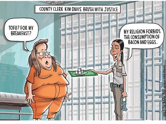 County Clerk Kim Davis' time behind bars