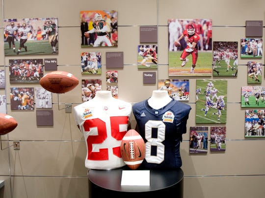 A display at the Fiesta Bowl Museum in Scottsdale.