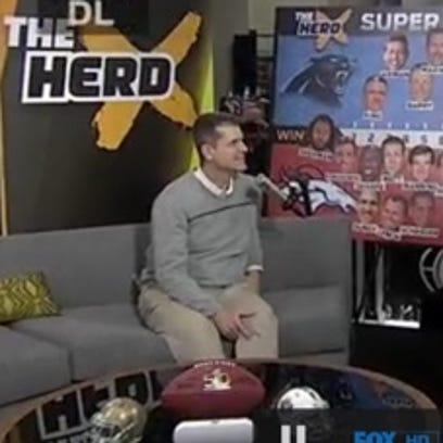Michigan coach Jim Harbaugh and Colin Cowherd talk