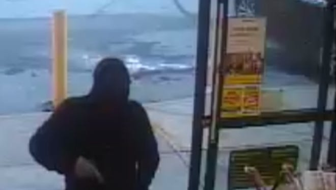 The photo seen here was taken during an armed robbery on Nov. 19, 2017 at the Dollar General on Brushy Creek Road in Greenville County