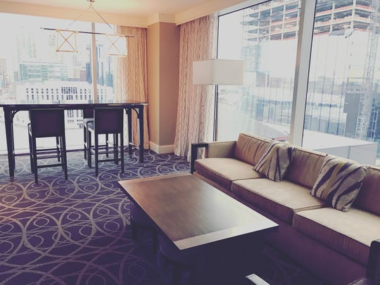A suite at the Omni Hotel makes for the perfect office