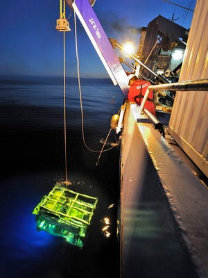 An undated handout picture provided by Deep Ocean Search Ltd on June 16, 2016, shows a diving robot of search vessel 'S.V. John Lethbridge' at an undisclosed location.
