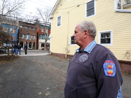 Piermont Fire Department ex-chief Kevin Fagan at the site of a fire that he responded to 40 years ago that killed three children on Piermont Ave. March 1, 2018.
