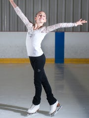 Jenna Gordon, an 11-year-old standout figure skater from Medford, practices at the Igloo in Mount Laurel.  02.08.16