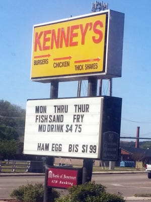 Kenny's fast-food restaurant in Buena Vista. There once was a location in Staunton.