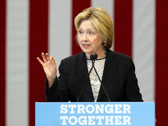 Hillary Clinton speaks about the economy in Columbus,