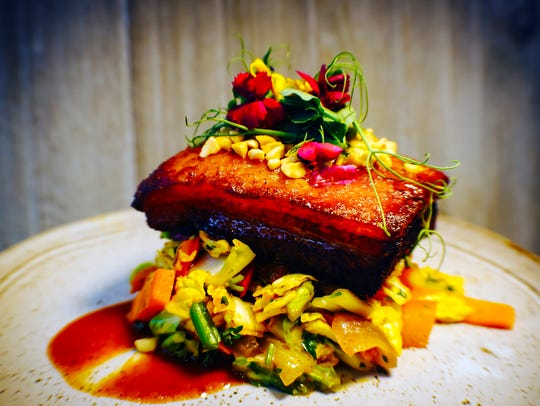 Crispy Pork Belly at The Bevy is twice-cooked with