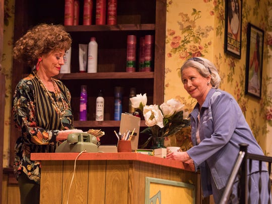 Eve Plumb (aka Jan Brady from The Brady Bunch), right, is in Rochester to play Clairee in Steel Magnolias. She's pictured with Brigitt Markusfeld (Truvy).