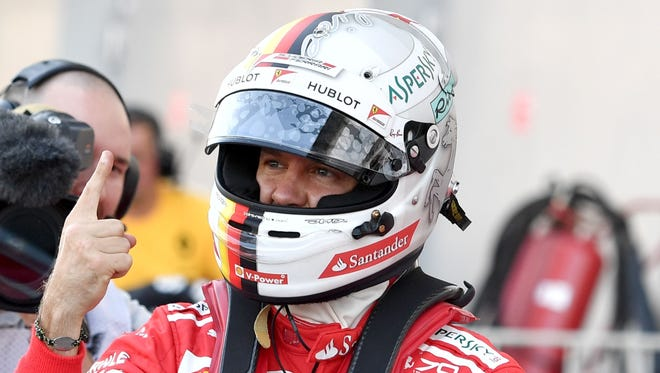 Sebastian Vettel put Ferrari on the pole for the first time in 19 races.