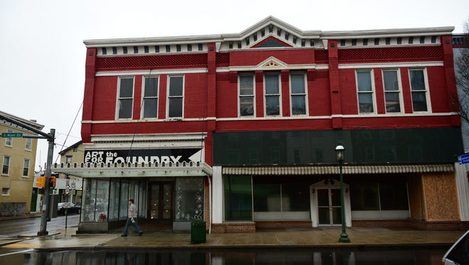 The Art for the Foundry building is located at the corner of Queen and South Main streets, Chambersburg.