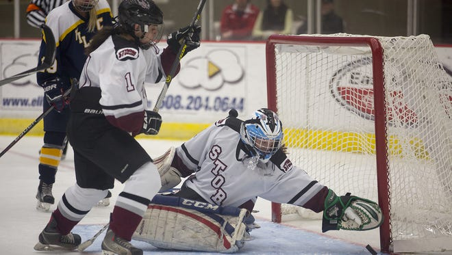 Central Wisconsin Storm goalie Chloe Westberg posted back-to-back shutouts this week to help her team improve to 9-7 overall.