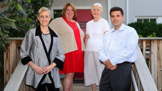 (Left to Right) Trustree Grayson Barber, Executive Director Dr. Elizabeth Casparian, Board President Claire Jacobus, Trsutee George Benaur