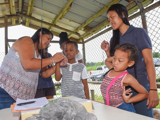 A fishing clinic for young anglers was held in Mangilao