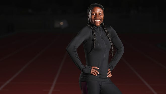 Rush-Henrietta's Lanae-Tava Thomas capped her high school career by being named AGR Girls Track and Field Athlete of the Year.