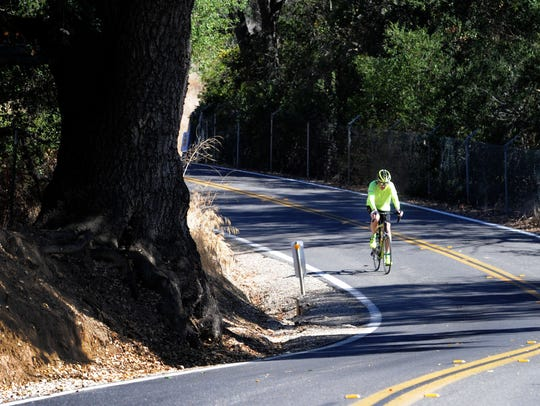 Mark Sussman of Ventura rides his Specialized road
