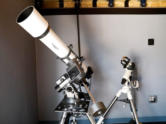 Multiple telescopes are part of the observatory at Hocking Hills State Park in Logan.