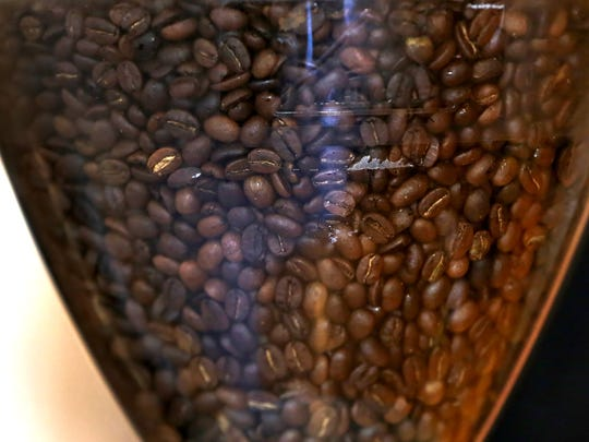 Beans are ready or grinding at Bee Coffee Roasters, Thursday, May 19, 2016.  The coffeehouse is at 201 S. Capital Ave., downtown.