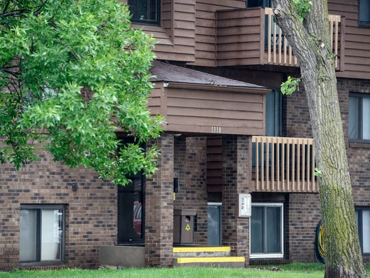 An apartment building is pictured near the scene of a scuffle at an apartment complex on 15th Street North Monday morning in St. Cloud.