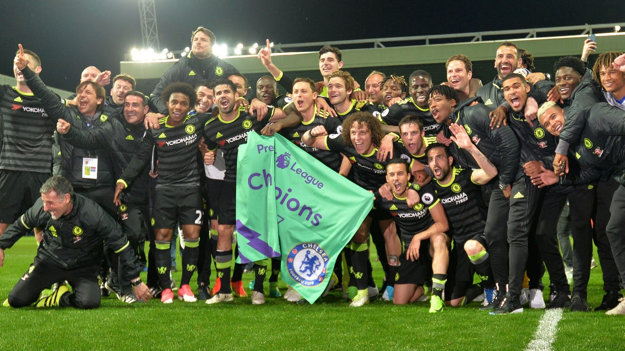 Chelsea won 1-0 at West Brom on Friday to secure the 2016-17 English Premiere League title.