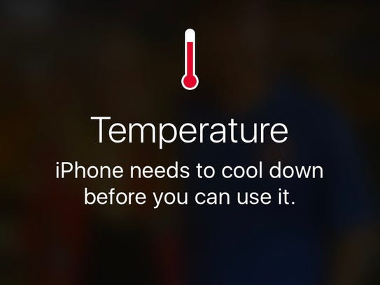 Cell phones can overheat very quickly. On hot days,