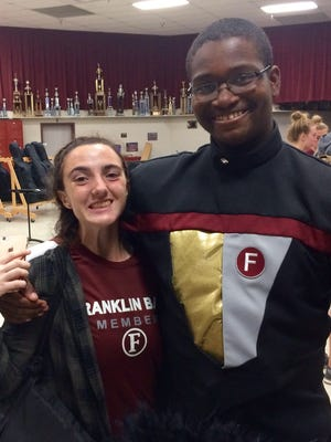 Franklin High School juniors Katie Thornton, 16, and Austin Sparks, 17, have been selected as members of the Bands of America Honor Band to march in the Rose Parade in Pasadena, Calif., on Jan 2.